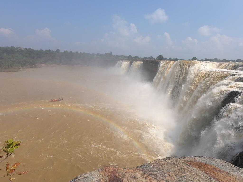 Chitrakoot Waterfall in Bastar- the Niagra of India